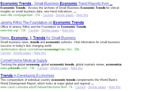 """trends in the economy"""