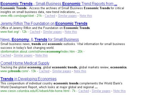 """trends in the economy"""