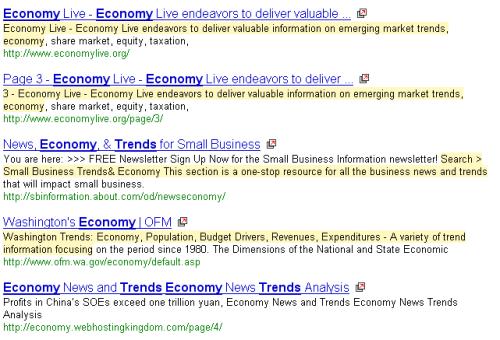 trends in the economy